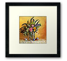 Echiums and Loquats Framed Print