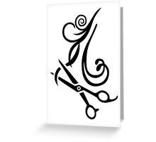 Hair scissors Hairdresser Greeting Card