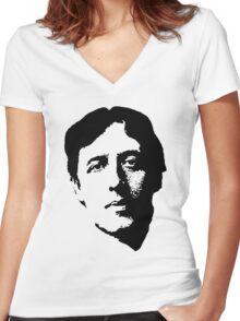 Oscar Wilde Women's Fitted V-Neck T-Shirt