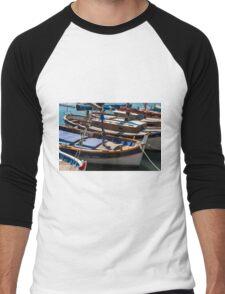 Fishing boats, Cassis, French Riviera Men's Baseball ¾ T-Shirt