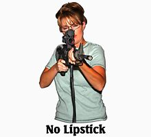 No Lipstick - Light Colors Womens Fitted T-Shirt