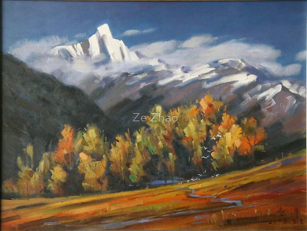 Autumn Mountains  by Ze Zhao