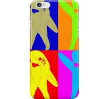 Left Shark Super Bowl POP ART (Warhol) Half Time Dancing Shark 2015 iPhone Case/Skin