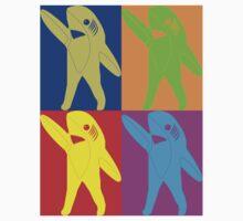 Left Shark Super Bowl POP ART (Warhol) Half Time Dancing Shark 2015 by T-Shirt T-Shirt Land