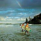 Rainbow Surfers by Ken Wright