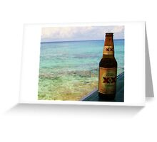 Beer and Beach Greeting Card