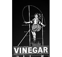 skipping girl in black Photographic Print