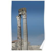 Columns of Roman Theatre, Arles Poster