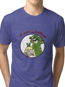 He-man and Battlecat Tri-blend T-Shirt