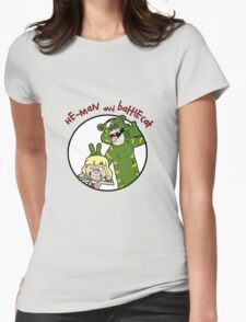 He-man and Battlecat Womens Fitted T-Shirt