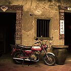 Motorcycle in Dashi by Jeff Harris