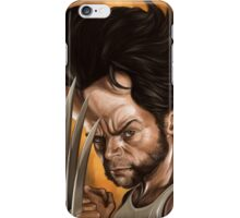 "Hugh Jackman ""Wolverine"" caricature iPhone Case/Skin"