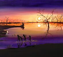Menindee Sunset by Sue Hodge
