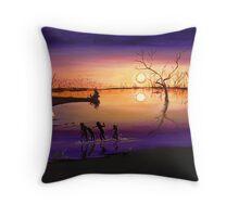Menindee Sunset Throw Pillow