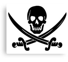 Pirate Logo (Black) Canvas Print