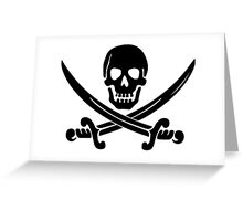 Pirate Logo (Black) Greeting Card
