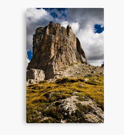One of the Cinque Torri near Cortina. Canvas Print