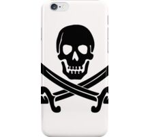 Pirate Logo (Black) iPhone Case/Skin