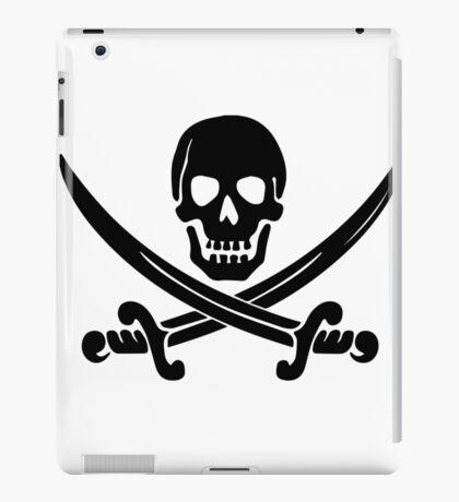 Pirate Logo (Black) iPad Case/Skin