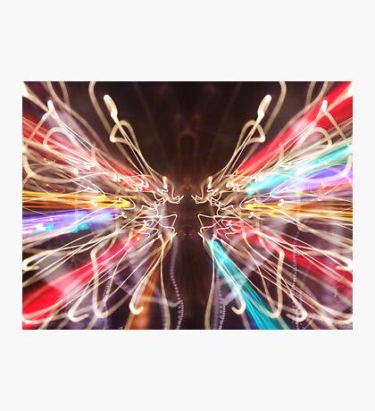 Neon Wings Photographic Print