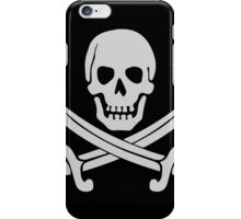 Pirate Logo (White) iPhone Case/Skin