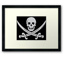 Pirate Logo (White) Framed Print