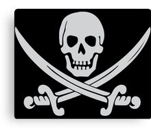Pirate Logo (White) Canvas Print