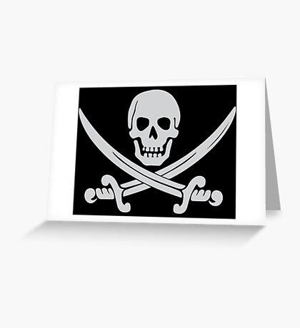 Pirate Logo (White) Greeting Card
