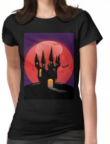 Halloween Castle Womens Fitted T-Shirt