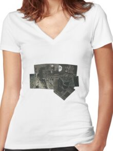 The Void 3 collage Women's Fitted V-Neck T-Shirt