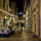 Dubrovnic at night by Colin Metcalf