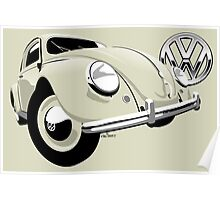 VW Beetle type 1 cream Poster