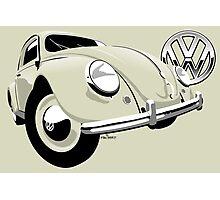 VW Beetle type 1 cream Photographic Print