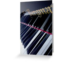 Piano Reflection Greeting Card