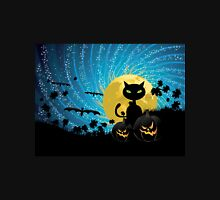 Halloween party background with cat Unisex T-Shirt