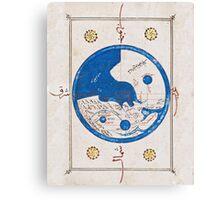 Ancient Egyptian world map Canvas Print