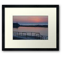 Dawn over Newcastle Baths Framed Print