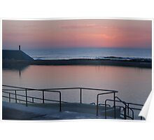 Dawn over Newcastle Baths Poster