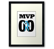 Left Shark MVP - Super Bowl Halftime Shark 2015 Framed Print