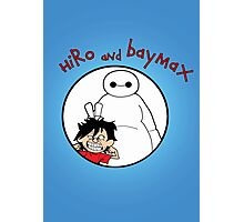 Hiro and Baymax Photographic Print