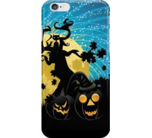 Halloween party background with pumpkins 2 iPhone Case/Skin