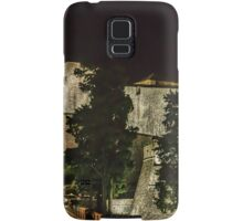 Dubrovnic Fortress and walls at night Samsung Galaxy Case/Skin