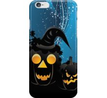 Halloween party background with pumpkins 3 iPhone Case/Skin