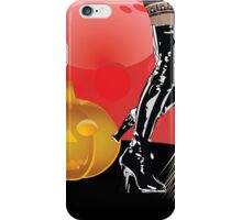 Halloween party background with pumpkins 4 iPhone Case/Skin