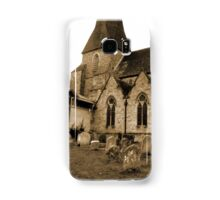 St Mary's Parish Church Horsha Sussex in Sepia Samsung Galaxy Case/Skin
