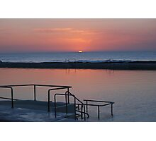 Sunrise Newcastle Baths Photographic Print