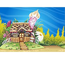 Fantasy Marzipan & Sweets House Photographic Print