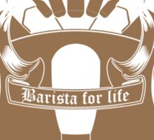 Barista Crest (darkt tees and hoodies) Sticker