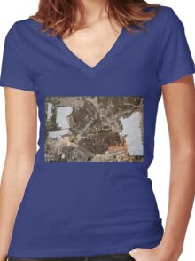 Reinvented Space I Women's Fitted V-Neck T-Shirt