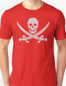 Pirate Logo (White) Unisex T-Shirt